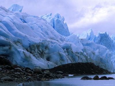 Perito Moreno Glacier and Terminal Moraine, Los Glaciares National Park, Argentina Premium Photographic Print by Pete Oxford