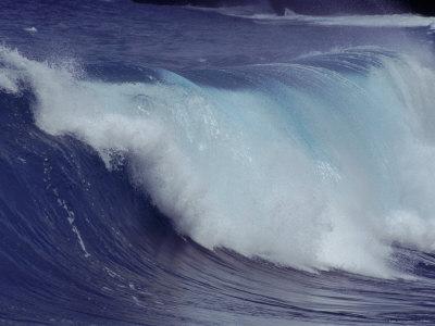 Waves, Pacific Ocean, Christmas Island, Australia Premium Photographic Print by Jurgen Freund