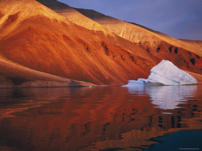 Melting Iceberg on Coast Qaanaaq, Greenland Premium Photographic Print by Staffan Widstrand
