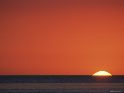 Sun Setting Over Gulf of Mexico, Florida, USA Premium Photographic Print by Rolf Nussbaumer