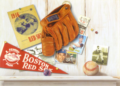 Vintage Red Sox Reproduction d'art