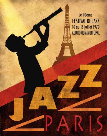 Jazz in Paris, 1970 Affischer av Conrad Knutsen