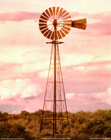 Rural Windmill Print by Lester Lefkowitz