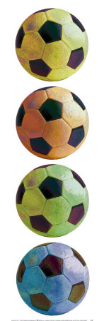 Ballons de football Pop Art Reproduction d'art