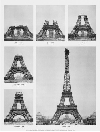Eiffel Tower Construction Pictures on Eiffel Tower Construction Kunstdruck   Allposters At