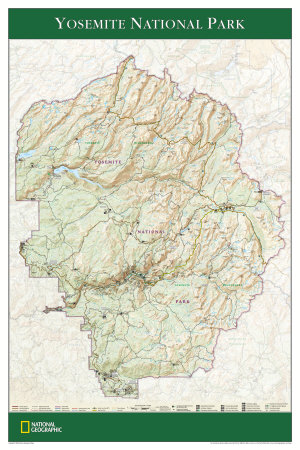 Topographic Map Of Yosemite. Map of Yosemite National Park