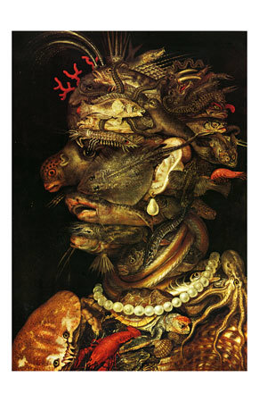 Water, c.1566 Prints by Giuseppe Arcimboldo
