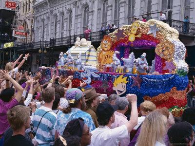 Mardi Gras, New Orleans, Louisiana, USA Photographic Print by Charles Bowman