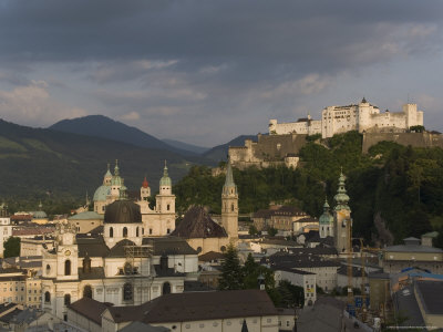 Cityscape Including Schloss Hohensalzburg, Salzburg, Austria Photographic Print by Charles Bowman