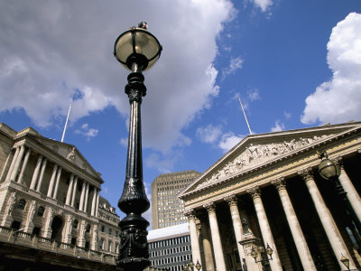 Bank of England and Royal Exchange, City of London, London, England, United Kingdom Photographic Print by Jean Brooks