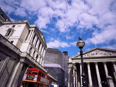 Bank of England and the Royal Exchange, City of London, London, England, United Kingdom Photographic Print by Jean Brooks