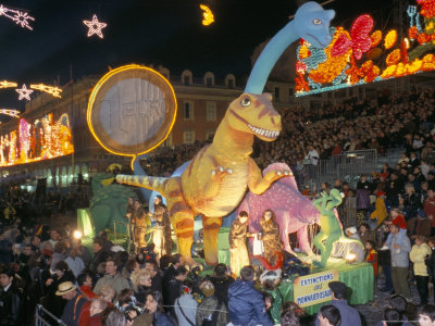 Defile Aux Lumieres, Carnival, Place Massena, Nice, Alpes-Maritimes, Provence, France Photographic Print by Bruno Barbier
