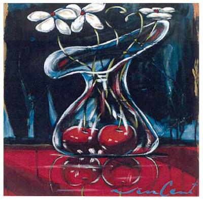 Cerise VI Art by Daniel Vincent