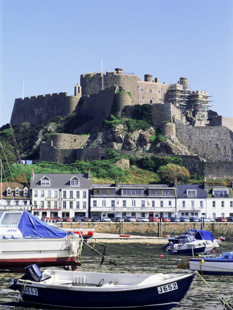 Mount Orgueil Castle and Harbour, Gorey, Grouville, Jersey, Channel Islands, United Kingdom Photographic Print by Neale Clarke