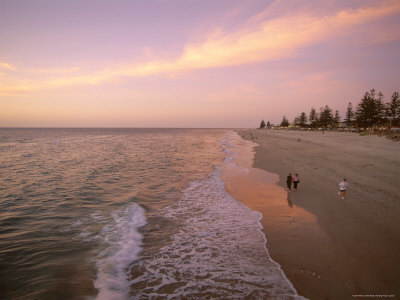 Sunset, Brighton Beach, Adelaide, South Australia, Australia Photographic Print by Neale Clarke
