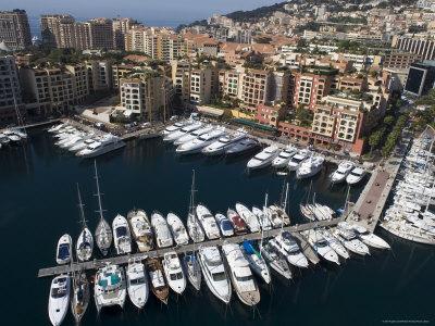 Port of Fontvieille, Monaco, Cote d'Azur, Mediterranean Photographic Print by Angelo Cavalli