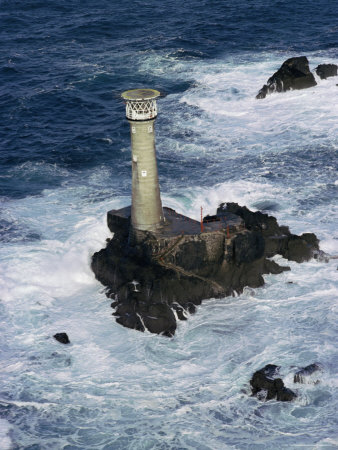 Longships Lighthouse, Lands End, Cornwall, England, United Kingdom Photographic Print by Chris Nicholson