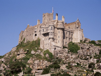 Castle Dating from the 14th Century, St. Michael's Mount, Cornwall, England, United Kingdom Photographic Print by Ken Gillham