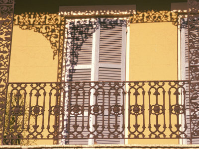 Iron Lace Balcony, New Orleans, Louisiana, USA Photographic Print by Ken Gillham