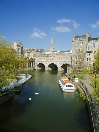 The River Avon and Pulteney Bridge, Bath, Avon, England, UK Photographic Print by Chris Nicholson