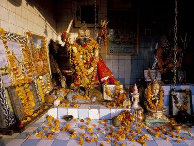 Kali, Hindu Goddess of Destruction, Totem, India Photographic Print by Alain Evrard