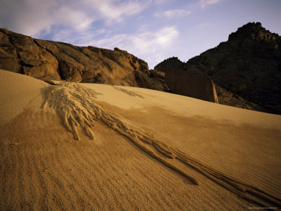 A Sand Avalanche after a Rainstorm in the Sahara Desert, Algeria, North Africa, Africa Photographic Print