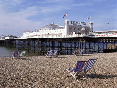 Palace Pier, Brighton, East Sussex, England, United Kingdom Photographic Print by Walter Rawlings