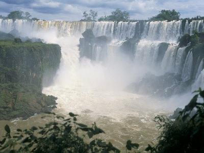 Iguacu (Iguazu) Falls, Border of Brazil and Argentina, South America Photographic Print by G Richardson