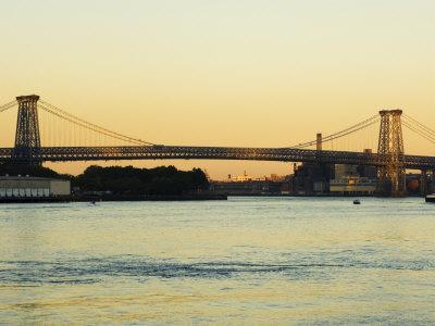 Williamsburg Bridge and the East River, New York City, New York, USA Photographic Print by Amanda Hall