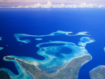 Aerial View of the Solomon Islands, Melanesia, South Pacific Photographic Print by Lousie Murray