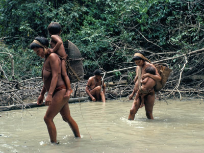 Yanomami Indians Fishing, Brazil, South America Photographic Print by Robin Hanbury-tenison