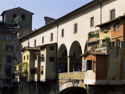 Houses and Shops on the Ponte Vecchio, Florence, Tuscany, Italy Photographic Print by Lousie Murray