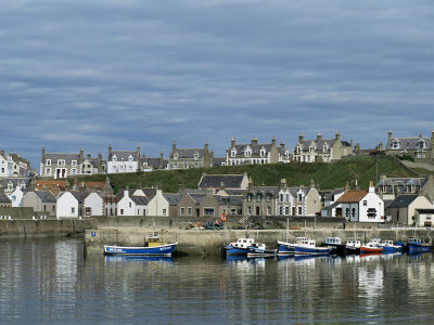 Fishing Boats with Creels at Anchor in Harbour at Findochty, Grampian, Scotland Photographic Print by Lousie Murray