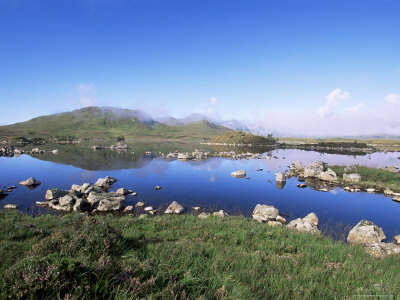 Lochan Na H-Achlaise, Rannoch Moor, Black Mount in the Background, Highland Region, Scotland Photographic Print by Lousie Murray