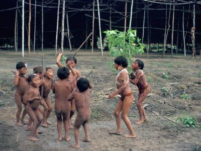 Yanomami Children, Brazil, South America Photographic Print by Robin Hanbury-tenison