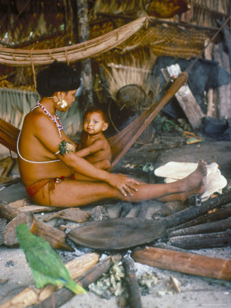 Yanomami Mother and Child, Brazil, South America Photographic Print by Robin Hanbury-tenison