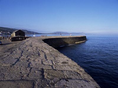 The Cobb, Lyme Regis, Dorset, England, United Kingdom Photographic Print by John Miller