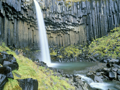 Svartifoss Waterfall, Skaftafell National Park, Iceland, Polar Regions Photographic Print by Simon Harris