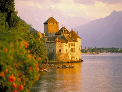 Chateau De Chillon, Lake Generva, Montreux, Switzerland Photographic Print by Simon Harris