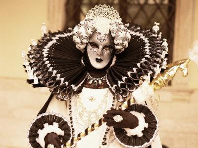 Carnival Costume, Venice, Veneto, Italy Photographic Print by Simon Harris