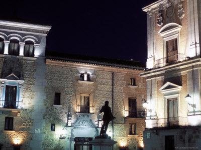 Ayuntamiento (Town Hall) Floodlit at Night, Plaza De La Villa, Centro, Madrid, Spain Photographic Print by Richard Nebesky