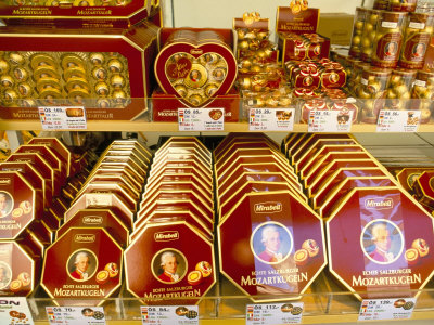 Famous mozart chocolates salzburg austria photographic print by