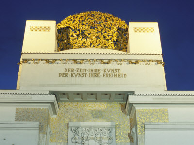 Detail of the Exterior of the Dome of the Art Nouveau Secession Building, Vienna, Austria Photographic Print by Richard Nebesky
