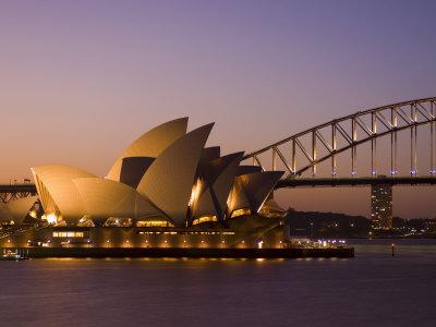 Opera House and Harbour Bridge, Sydney, New South Wales, Australia Photographic Print by Sergio Pitamitz