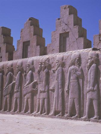 Frieze, Persepolis, Unesco World Heritage Site, Iran, Middle East Photographic Print by Robert Harding