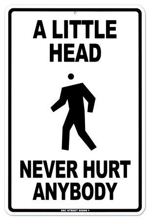 Little Head Tin Sign