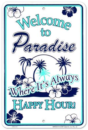 Paradise Tin Sign