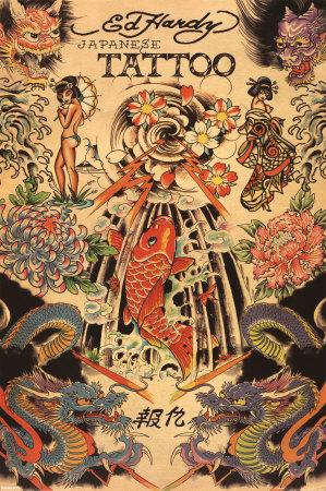 tatuaje estilo tradicional japones. Tatuaje japonés Póster