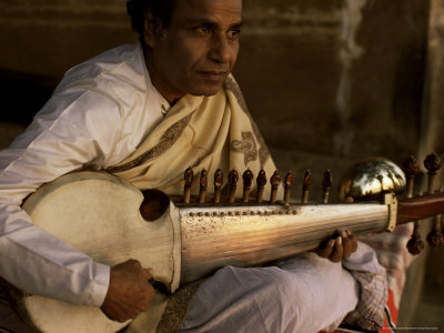 Sarod Player, India Photographic Print by John Henry Claude Wilson