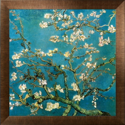 Almendro con flores, San Remy (Almond Branches in Bloom, San Remy, ca.1890) Reproduccin en lienzo de la lmina